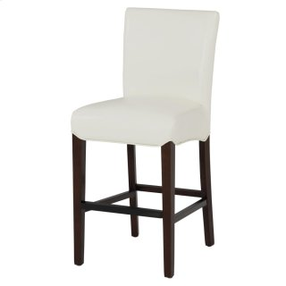 Milton Bonded Leather Counter Stool, White