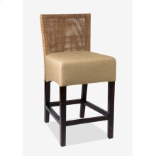(LS) Karyn Counterstool-w/ Back-Seat Upholster (18x20x38) Seat Height 26""
