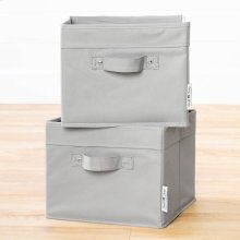 Canvas Baskets, 2-Pack - Gray