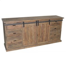 Double Sliding Door Pine Buffet