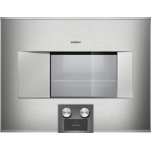 """400 series BS474611 Stainless steel-backed full glass door Width 24"""" (60 cm) Right-hinged Controls at the bottom"""
