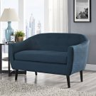 Wit Upholstered Fabric Loveseat in Azure Product Image