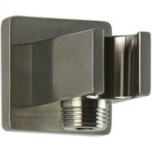 SQU Shower Outlet Elbow with Hand Shower Holder - Brushed Nickel