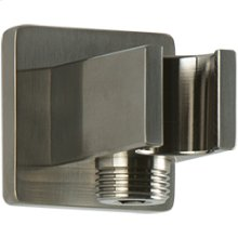 SQU Shower Outlet Elbow with Hand Shower Holder - Brushed Nickel