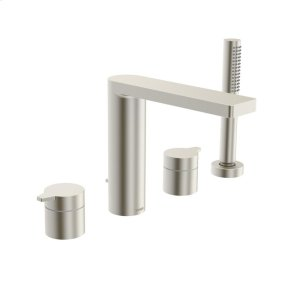 Riva 4-hole roman tub trim kit, brushed nickel Product Image