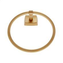 Satin Brass Serene Towel Ring