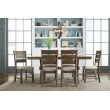 Leg Table W/6 Chairs