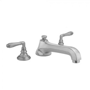 Antique Brass - Westfield Roman Tub Set with Low Spout and Smooth Lever Handles Product Image