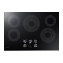 "30"" Electric Cooktop in Black Stainless Steel"