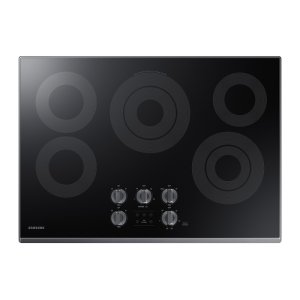 "30"" Electric Cooktop in Black Stainless Steel Product Image"