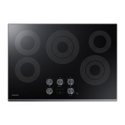 """30"""" Electric Cooktop in Black Stainless Steel Product Image"""