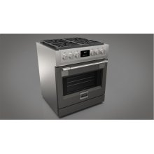 "30"" ALL GAS PRO RANGE - MATTE GREY"