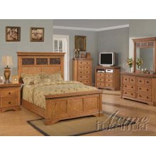 Rustic Oak Finsh California King Bedroom Set