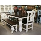 6' White/Walnut Rectangular Table Product Image