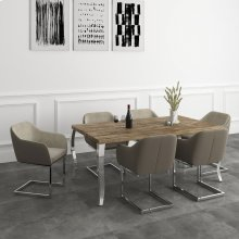Natalia/Marlo 7pc Dining Set, Taupe