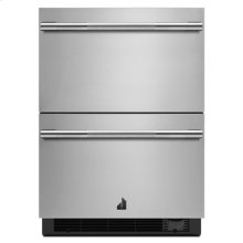 "RISE 24"" Double Drawer Refrigerator/Freezer"