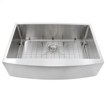 33 Inch Pro Series Small Radius Single Bowl Farmhouse Apron Front Stainless Steel Kitchen Sink