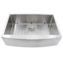 33 Inch Pro Series Small Radius Single Bowl Farmhouse Apron Front Stainless Steel Kitchen Sink