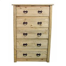 Log 5 Drawer Chest