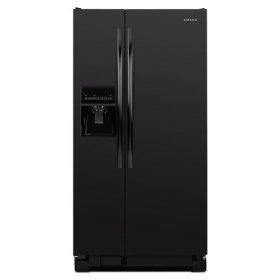Amana® 32-inch Wide Amana® Side-by-Side Refrigerator with Adjustable Door Bins -- 21 cu. ft. Capacity - Black