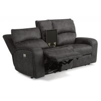 Rhapsody Fabric Power Reclining Loveseat with Console and Power Headrests Product Image