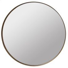 RALEIGH MIRROR  Antique Brass Finish on Metal Frame  Plain Glass Mirror