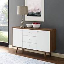 Transmit Sideboard in Walnut White