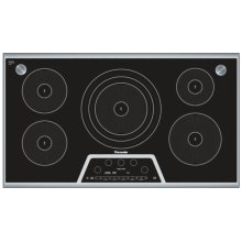 "CIS365GB Masterpiece 36"" Induction Cooktop with Sensor Dome Black with Stainless Steel Frame"