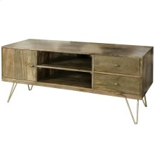 Sebastian  57in X 20in X 24in  Two Door Single Door TV Stand & Media Cabinet