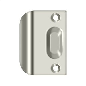 Full Lip Strike Plate For Ball Catch and Roller Catch - Polished Nickel Product Image