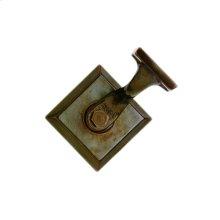 Diamond Handrail Bracket Silicon Bronze Brushed