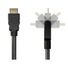 Black 6.6' Pivoting HDMI Cable; Pivot connector and flexible cable