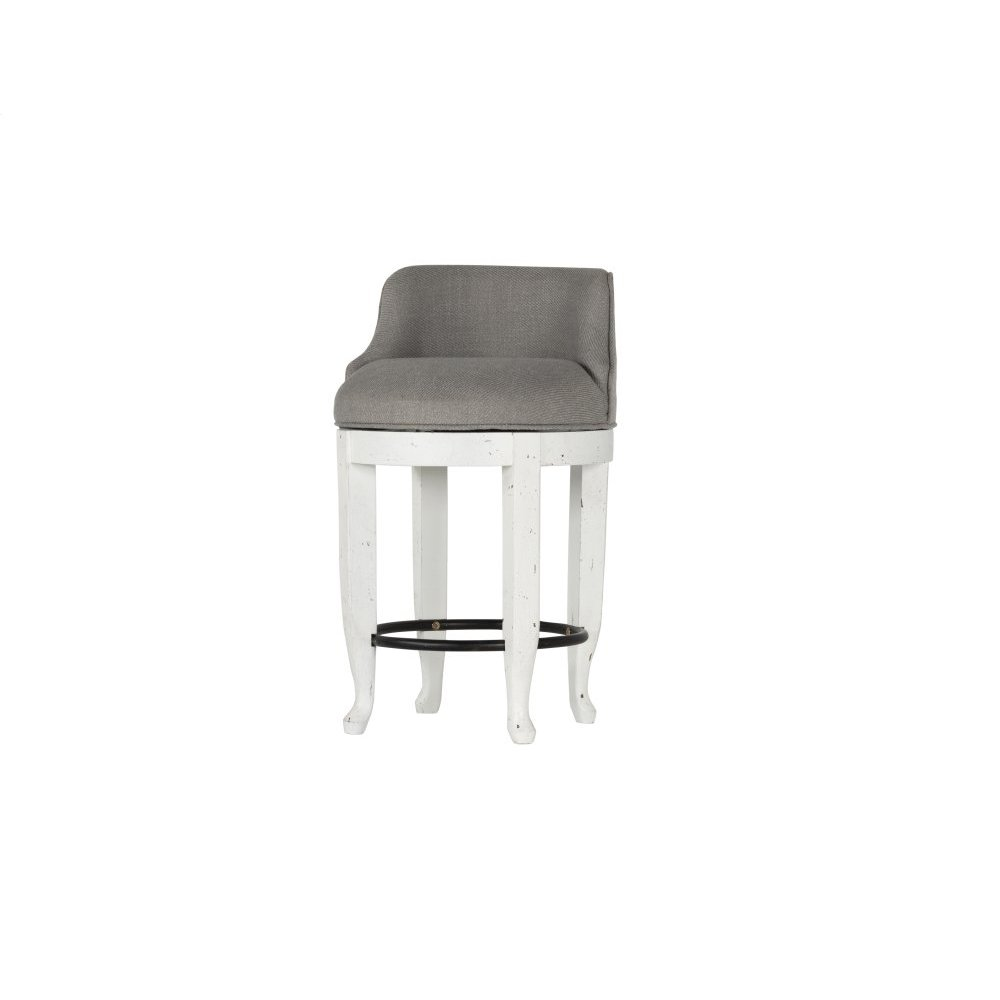 Emerald Home B312-37 Bordeaux Stool, Antique White