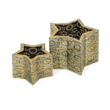 Rei Pierced Metal Lanterns - Set of 2