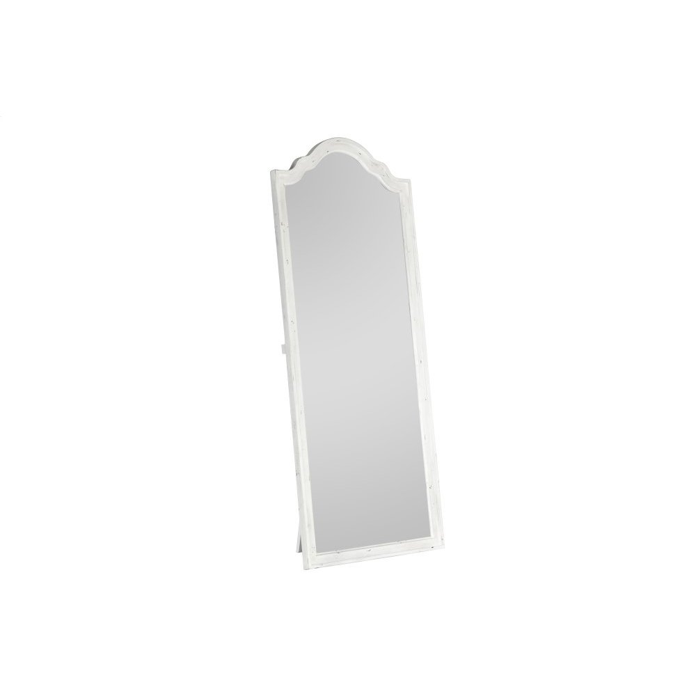 Emerald Home B312-26 Bordeaux Floor Mirror, Antique White