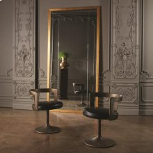 Metro Chair-Black Marbled Leather