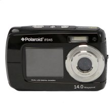 Polaroid 14-Megapixel Waterproof Dual Screen Digital Camera iF045, Black