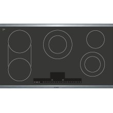 """36"""" Stainless Steel Electric Cooktop with Touch Control 500 Series - Black and Stainless Steel NET5654UC *Discontinued Model*"""