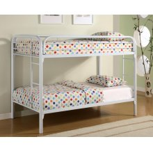Twin / Twin Metal Bunkbed White