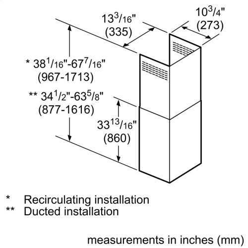 Chimney Extension for all Chimney Wall Hoods