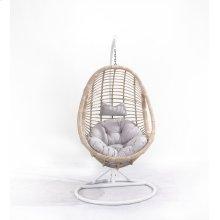 Emerald Home Catalina Hanging Basket Gray W/cream Wicker Frame Ou1061-09-03-k