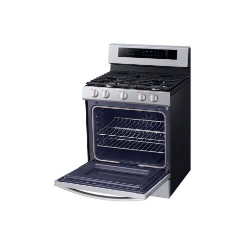 5.8 cu. ft. True Convection Freestanding Gas Range with Illuminated Knobs in Stainless Steel
