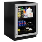 24-In Built-In Beverage Center With Split Convertible Shelves with Door Style - Stainless Steel Frame Glass, Door Swing - Right Product Image