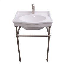 """Ensal 30"""" Console with Brass Stand - Single-Hole / Brushed Nickel"""