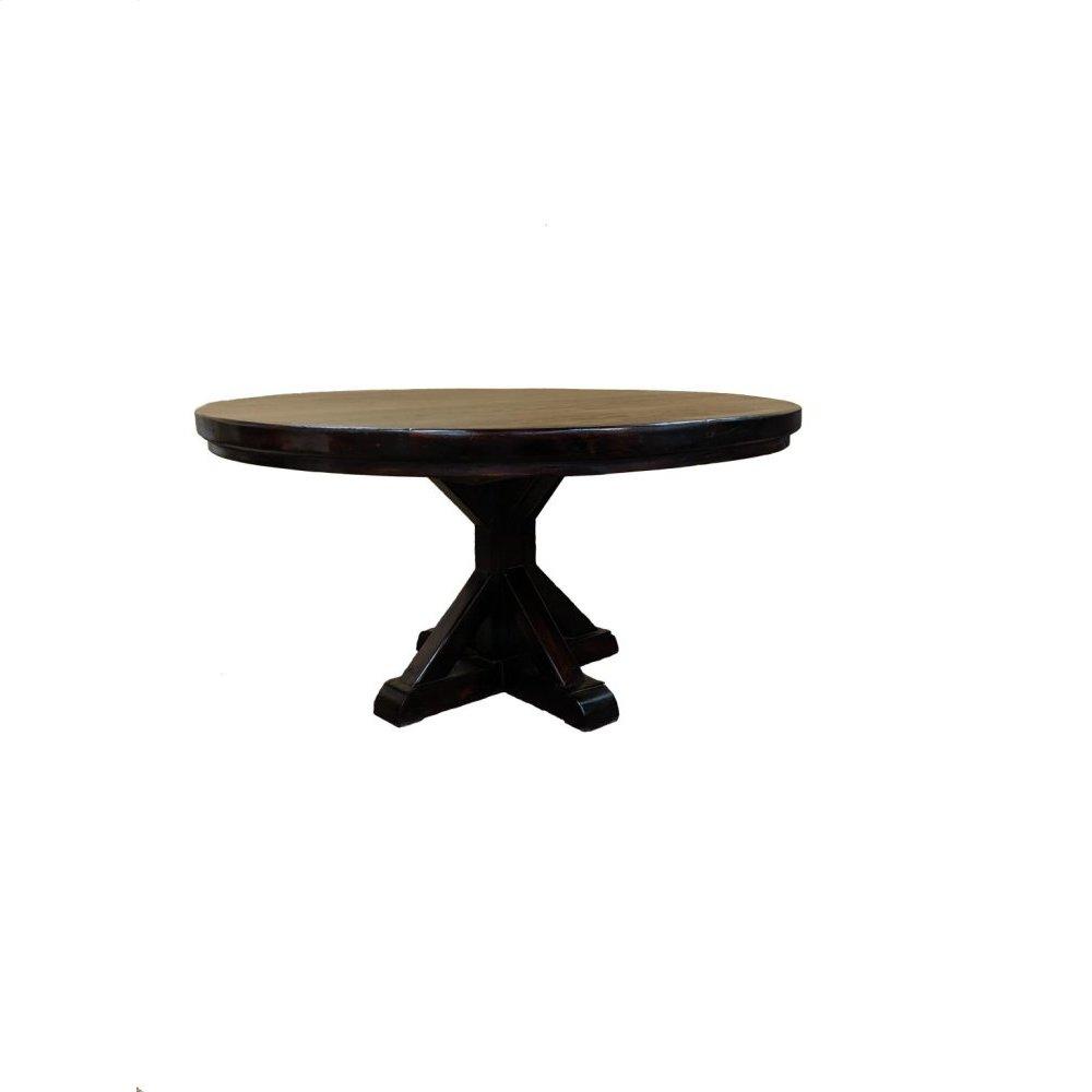 "60"" Walnut Round Table"