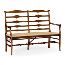 Double ladder back bench