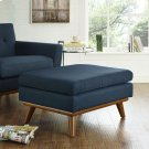Engage Upholstered Fabric Ottoman in Azure Product Image