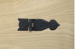 "Black 5.25"" Furniture Hinge 528336 Product Image"