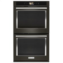 "Smart Oven+ 30"" Double Oven with Powered Attachments and PrintShield™ Finish - Black Stainless"