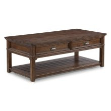 Herald Rectangular Coffee Table with Casters